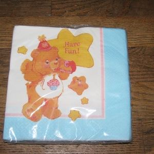 CARE BEARS Birthday Party Set of 16 Lunch Napkins